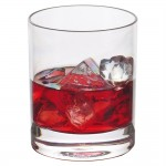 Verre à whisky réutilisable polycarbonate transparent 35cl Ø8,2x9,5cm - par 12