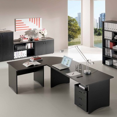 angle de liaison entre 2 bureaux prof 80 cm noir fr ne mobilier de bureau papeterie et. Black Bedroom Furniture Sets. Home Design Ideas