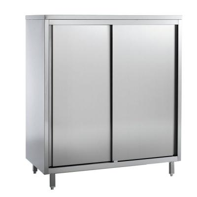 Armoire haute inox 2 portes coulissantes profond 600 mm for Table armoire inox