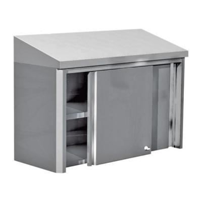 Armoire murale inox toit inclin portes coulissantes for Armoire cuisine inox