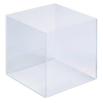 Bac de pr sentation plexi carr 20x20x20cm pr sentoirs for Vitrine plastique transparent