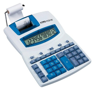 Calculatrice imprimante 12 chiffres ibico 1221X-Calculatrices