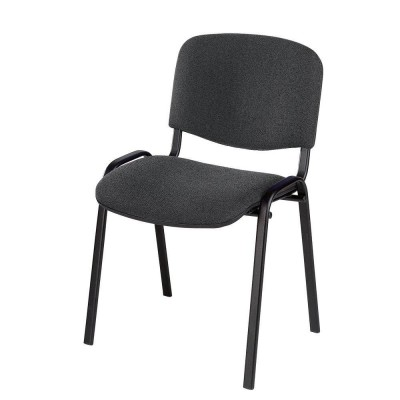 Chaise Iso tissu anthracite-Chaises visiteur