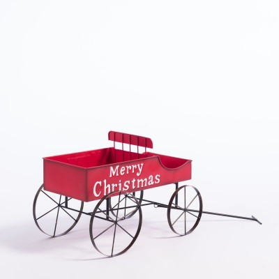 "Chariot ""Merry Christmas"" L 57 x P 34 x H 39 cm-Noël Eternelle Tradition"