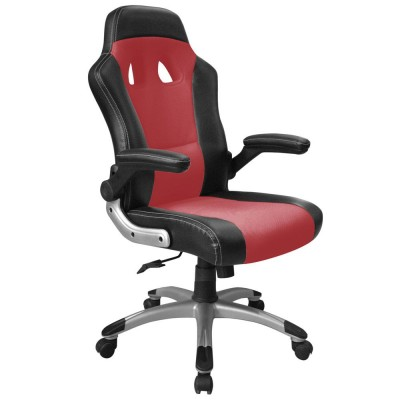 fauteuil de bureau baquet pour gamers avec accoudoirs rabattables noir rouge si ges et. Black Bedroom Furniture Sets. Home Design Ideas