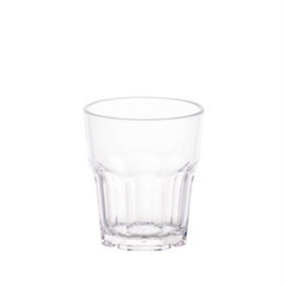 Gobelet réutilisable polycarbonate transparent 24cl Ø7,8x8,8cm - par 24