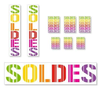 Kit affiches soldes Gencod Multicolore - pack 3-Affichage soldes