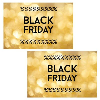Kit d'affiches N°1 Black Friday or x 2 affiches 60x40cm-Black Friday