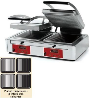 Machine à panini double plaque «duplex technology» rainurée / rainurée-Salamandre, toaster, panini