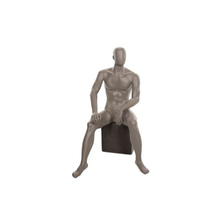 Mannequin homme assis qualité supérieure collection strong couleur taupe clair-Strong