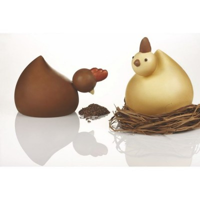 Moule choco poule - kt119-Ustensile fabrication chocolat