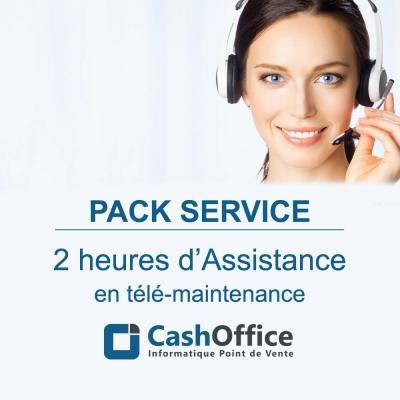 Pack de 2h d'assistance en télémaintenance-Solutions d'encaissement