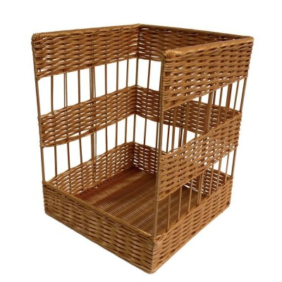 panier debout en polypropyl ne pour pain baguettes 40x40x50cm pr sentoirs supports. Black Bedroom Furniture Sets. Home Design Ideas