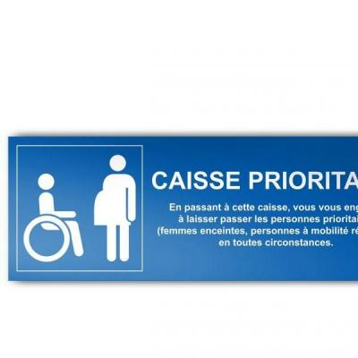 Panneau recto/verso caisse prioritaire 350x125mm-Signalisation & guidage