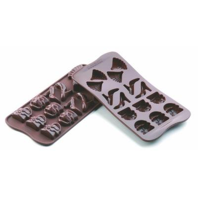 Plaque silicone pour chcolat easy choc 14 sujets fashion-Ustensile fabrication chocolat
