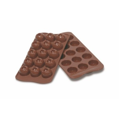 Plaque silicone pour chcolat easy choc 15 boules-Ustensile fabrication chocolat
