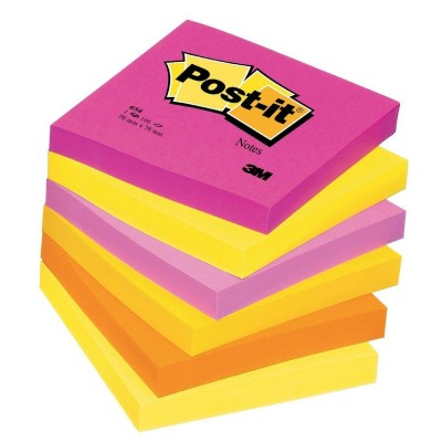 Post-it cube tutti frutti 76 x 76 mm - par 6-Notes repositionnables