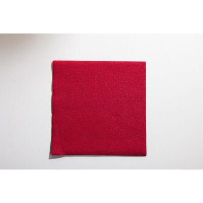 Serviette Dunilin brillance rouge 40x40cm par 10-Serviettes à usage unique