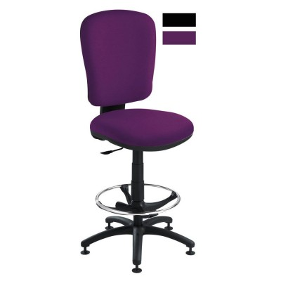 siege dessinateur en tissu violet pour haut bureau si ges et fauteuils papeterie bureau. Black Bedroom Furniture Sets. Home Design Ideas