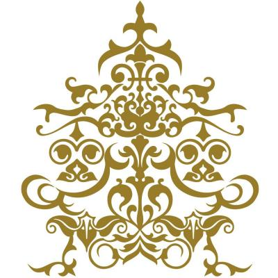 Sticker motif baroque or bronze - 43 x 50 cm-Stickers vitrine