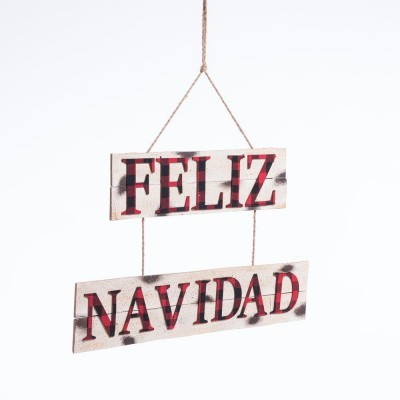 "Suspension ""FELIZ NAVIDAD"" L 65 x H 41 cm-Noël Eternelle Tradition"