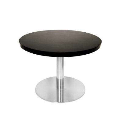 table basse avec plateau de table rond diam tre 60 cm noir et pied inox cm mobilier de. Black Bedroom Furniture Sets. Home Design Ideas
