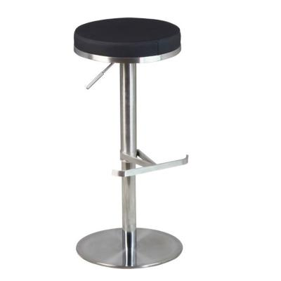tabouret de bar avec assise ronde noire hauteur r glable. Black Bedroom Furniture Sets. Home Design Ideas