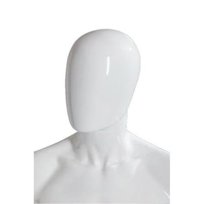 """Tête homme """"Oeuf"""" modulable blanc brillant style Design-Mannequins homme"""