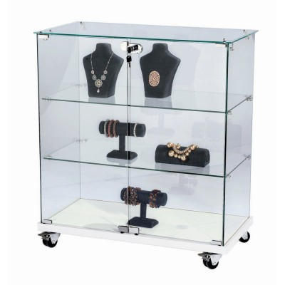 vitrine 80x40x90cm verre tremp 2 tablettes top verre. Black Bedroom Furniture Sets. Home Design Ideas