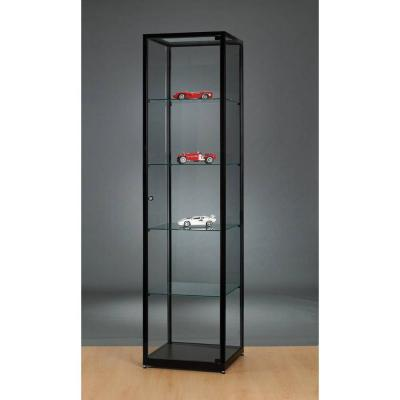 vitrine colonne noire sans clairage 50x50x198 cm vitrines d 39 exposition pr sentoirs. Black Bedroom Furniture Sets. Home Design Ideas