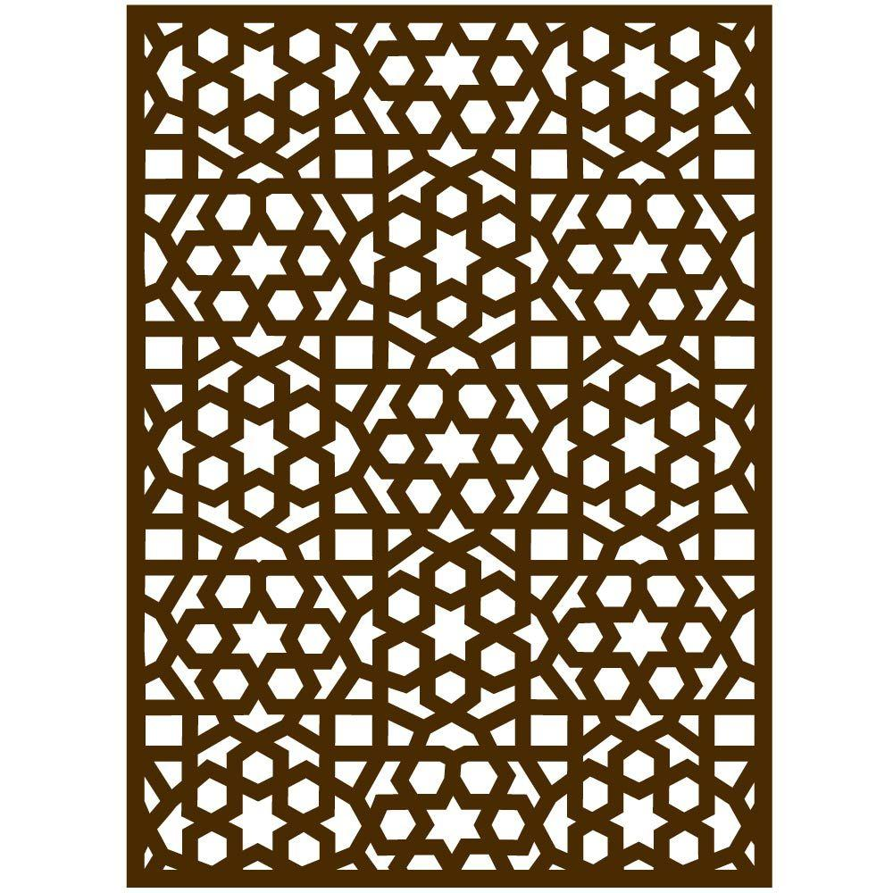 Sticker moucharabieh marron 84 x 120 cm d cors muraux d coration retif - Moucharabieh metaal ...