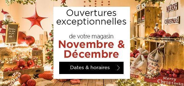 Dates d'ouvertures exceptionnelles et horaires des magasins à découvrir