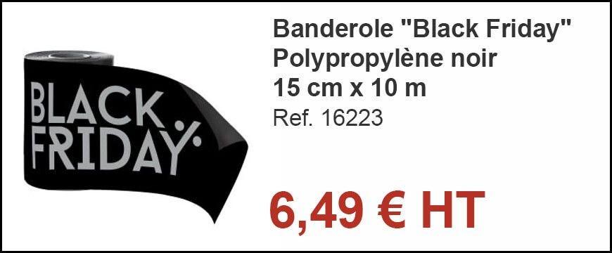 Banderole Black Friday H 15 cm x 10 m
