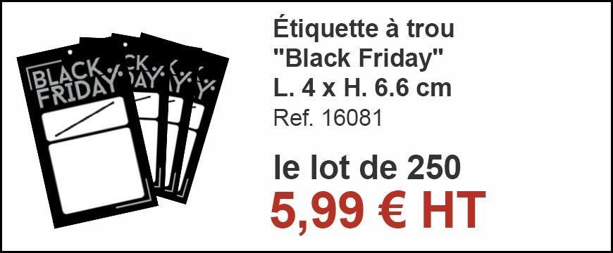Etiquette à trou Black Friday L. 4 x H. 6.6 cm - par 250