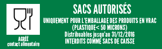 Sac agrée contact alimentaire