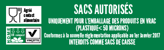 Sac Home compost agrée contact alimentaire
